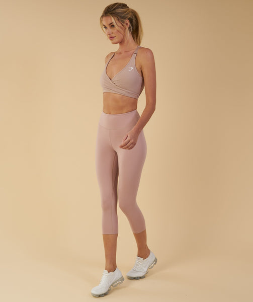 Gymshark Dreamy Cropped Leggings - Taupe 2