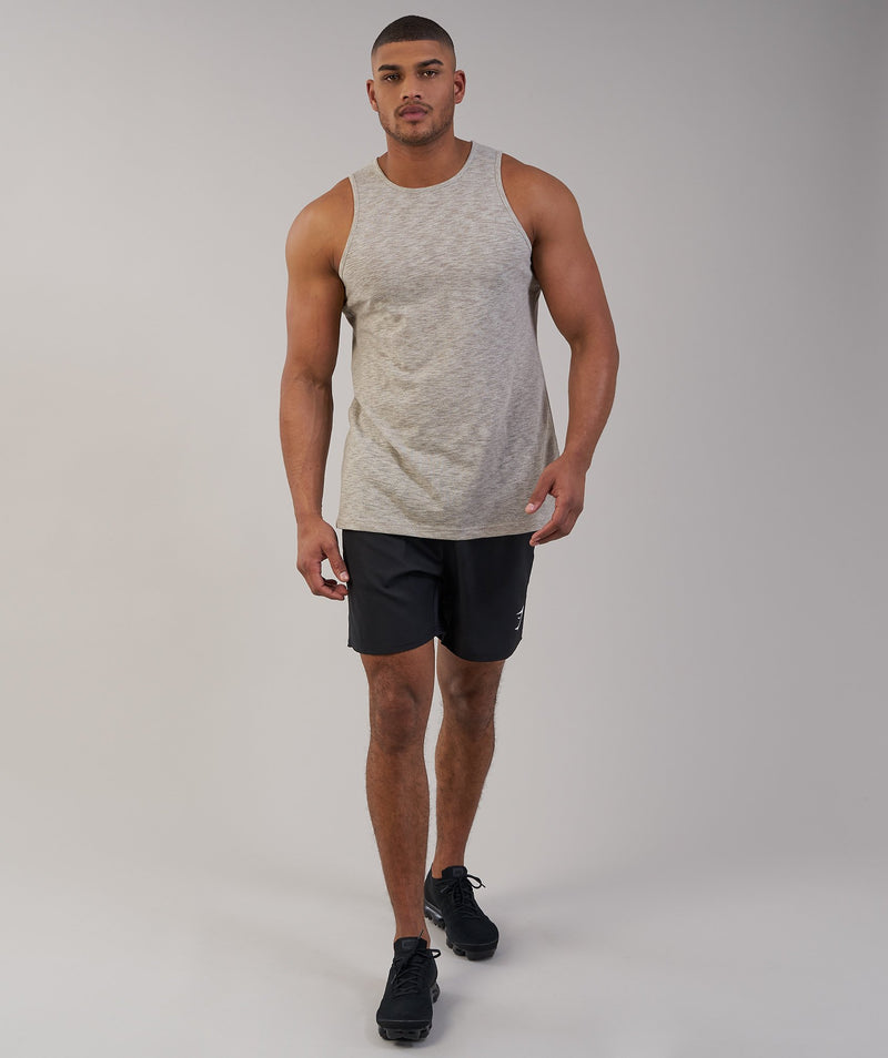 Gymshark Heather Tank - Chestnut Marl