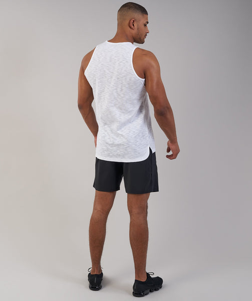 Gymshark Heather Tank - White Marl 2