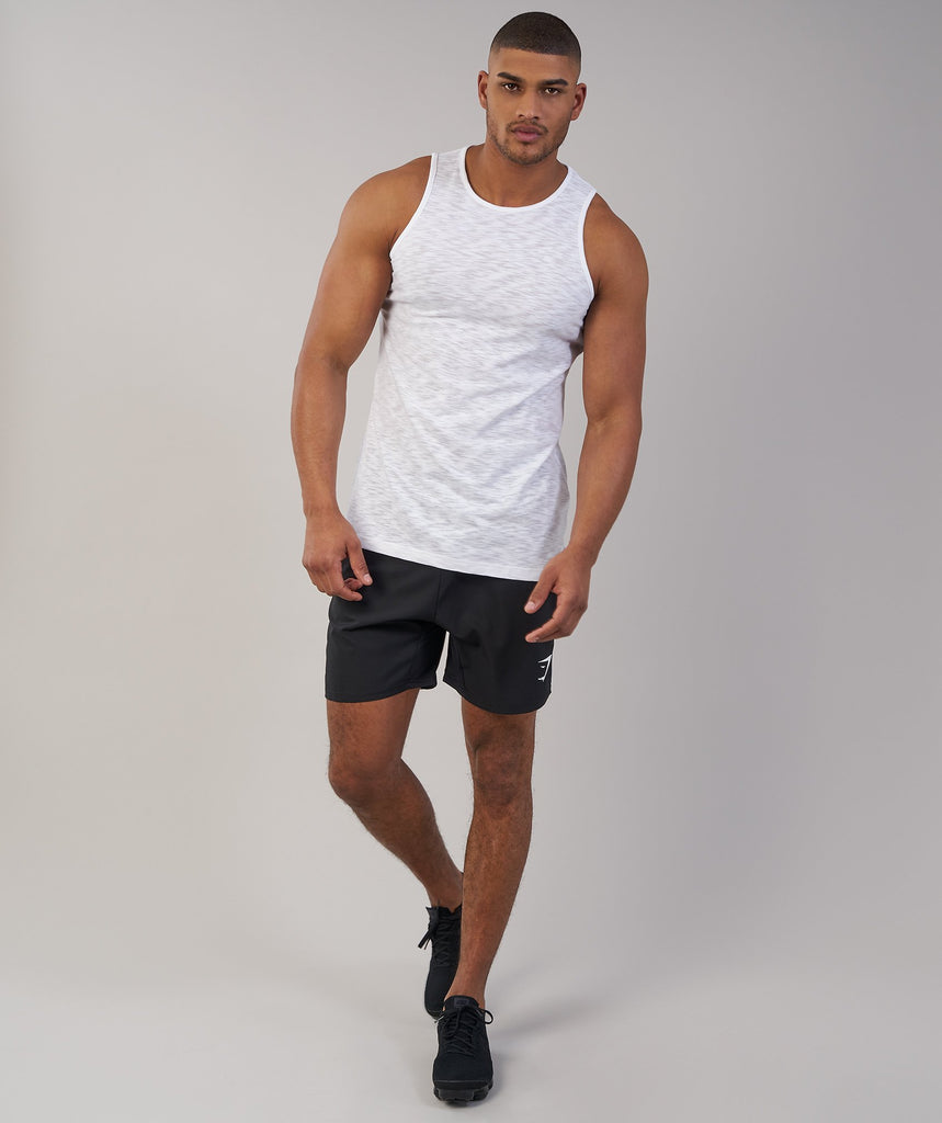 Gymshark Heather Tank - White Marl 1