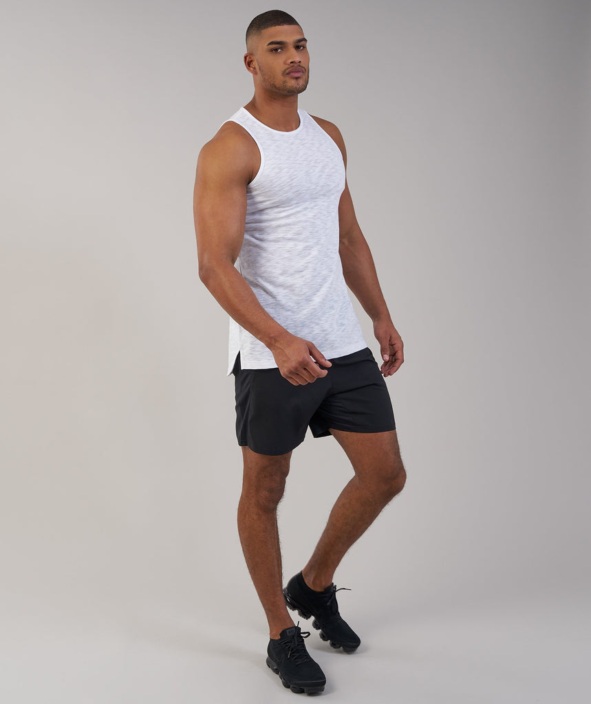 Gymshark Heather Tank - White Marl 6
