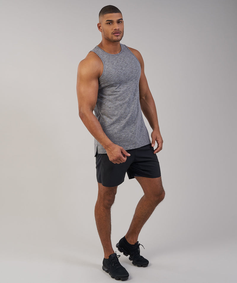 Gymshark Heather Tank - Charcoal Marl