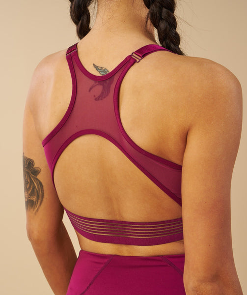 Gymshark Elite Sports Bra - Deep Plum 4