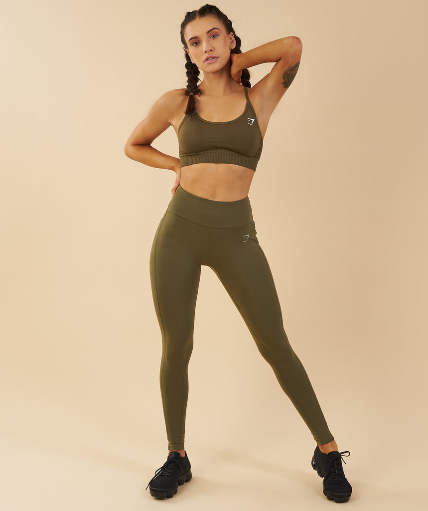 Gymshark Aspire Leggings - Khaki 1