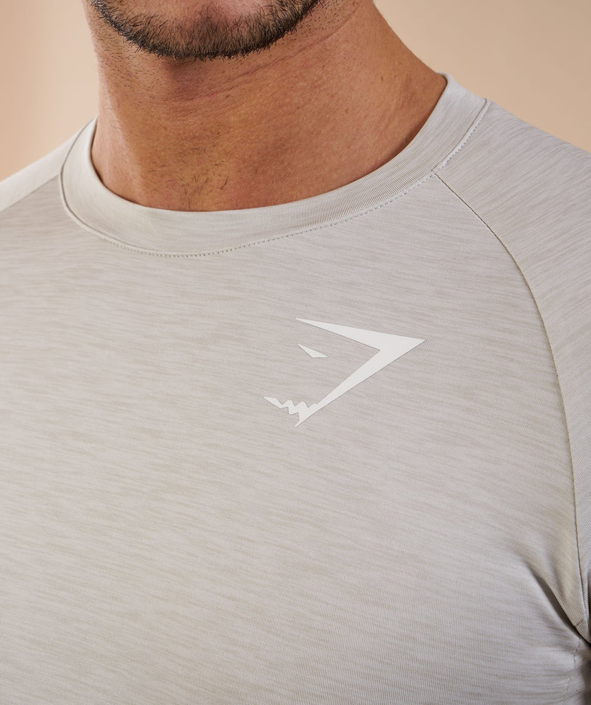 Gymshark Apex Long Sleeve T-Shirt - Stone Marl