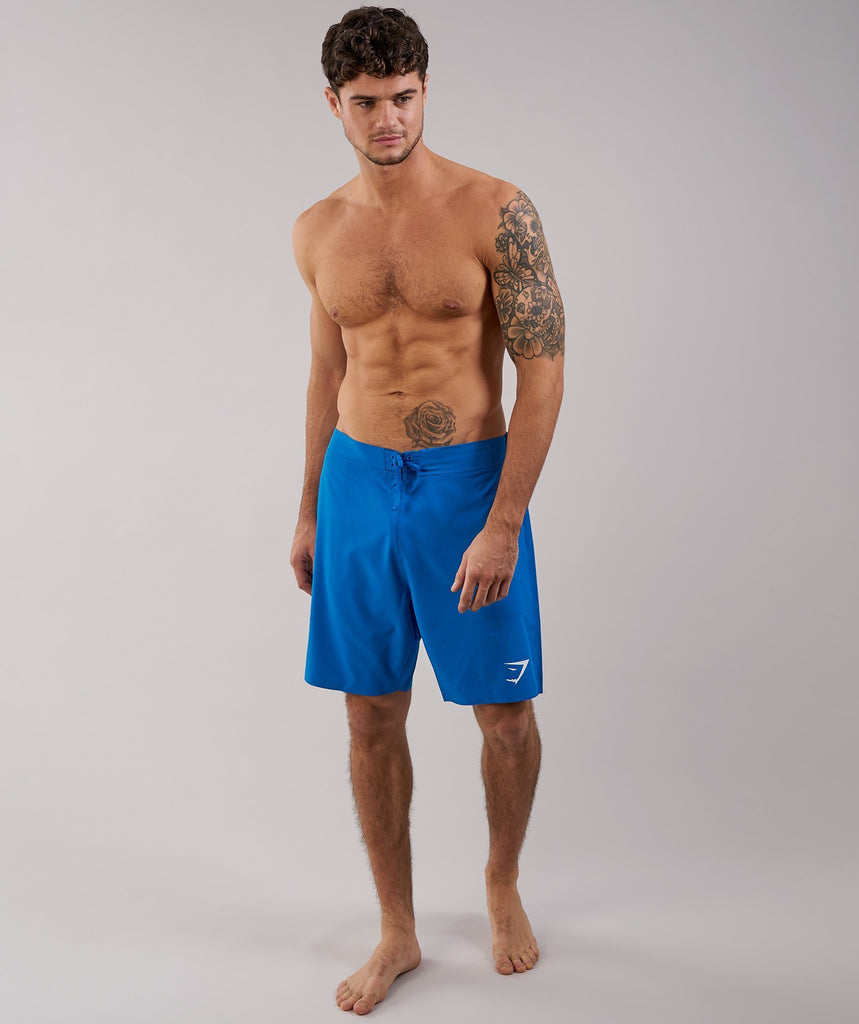 Gymshark Board Shorts - Dive Blue 4