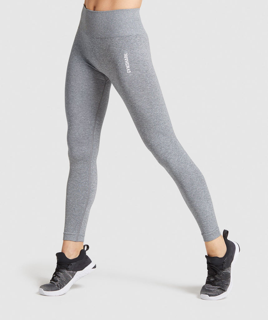 Gymshark Adapt Marl Seamless Leggings - Grey 1