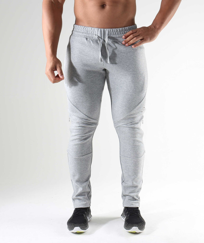 Gymshark Apex Bottoms - Light Grey Marl
