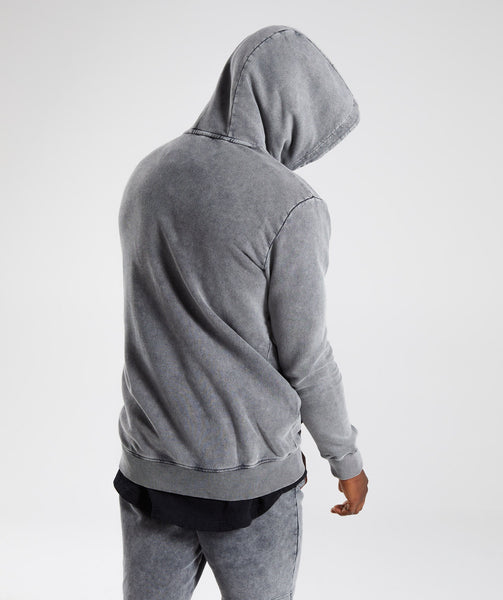 Gymshark Acid Wash Pullover - Light Grey 1