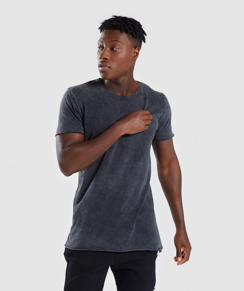 Gymshark Acid Wash T-Shirt - Black 4