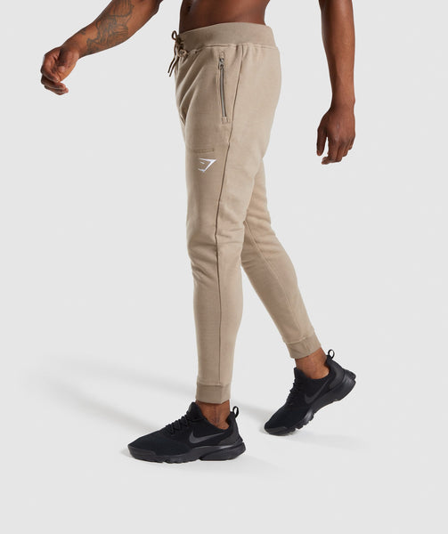 Gymshark Adapt Bottoms - Driftwood Brown Marl 2