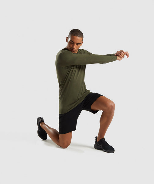Gymshark Apollo Long Sleeve T-Shirt - Woodland Green 3