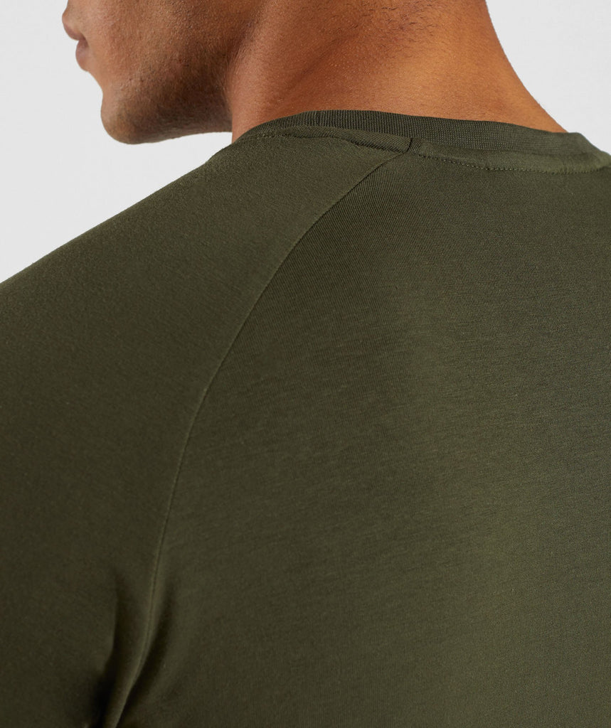 Gymshark Apollo Long Sleeve T-Shirt - Woodland Green 6