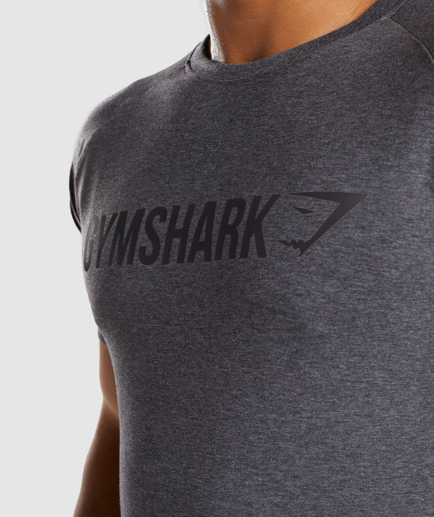 Gymshark Apollo T-Shirt - Charcoal Marl 6