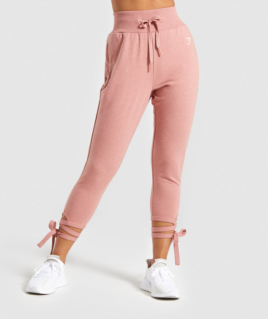 Gymshark Ark High Waisted Joggers - Pink 1