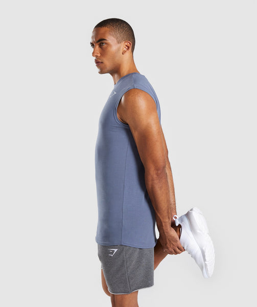 Gymshark Ark Sleeveless T-Shirt - Aegean Blue 2