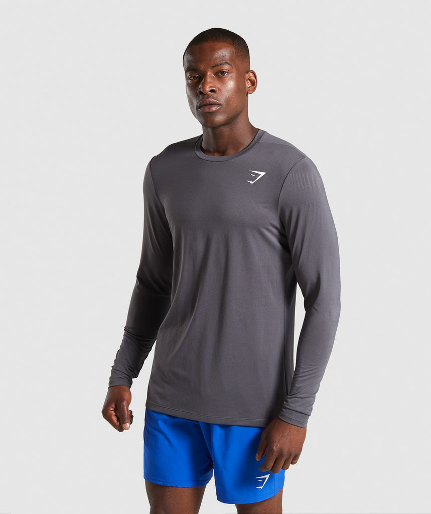 Gymshark Arrival Long Sleeve T-Shirt - Charcoal 1