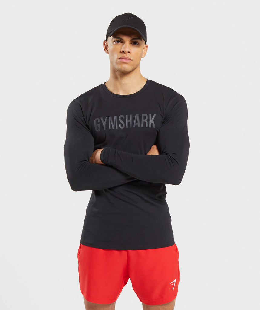 Gymshark Base Long Sleeve T-Shirt - Black 1