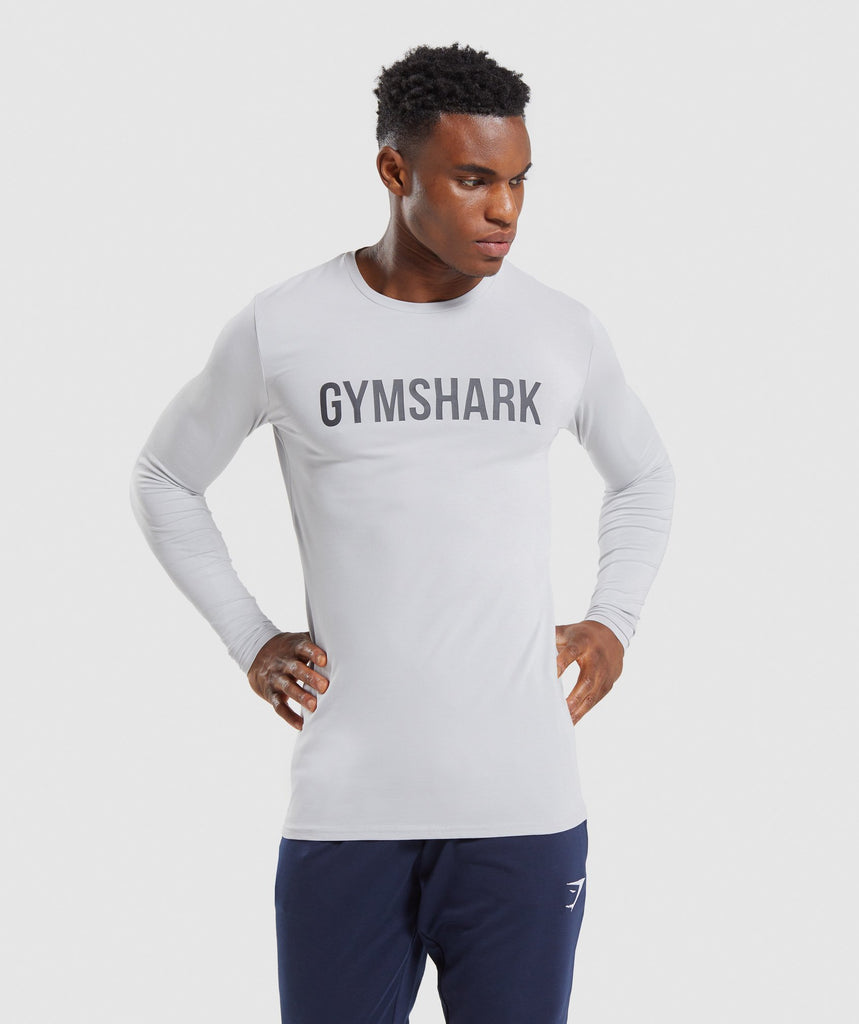 Gymshark Base Long Sleeve T-Shirt - Grey 1