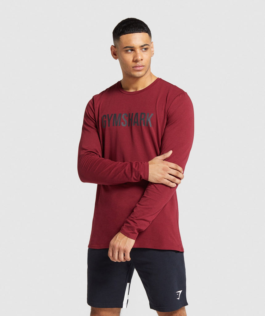 Gymshark Base Long Sleeve T-Shirt - Claret 1