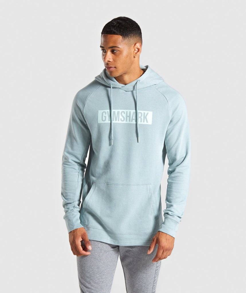 Gymshark Block Hoodie - Light Blue 1