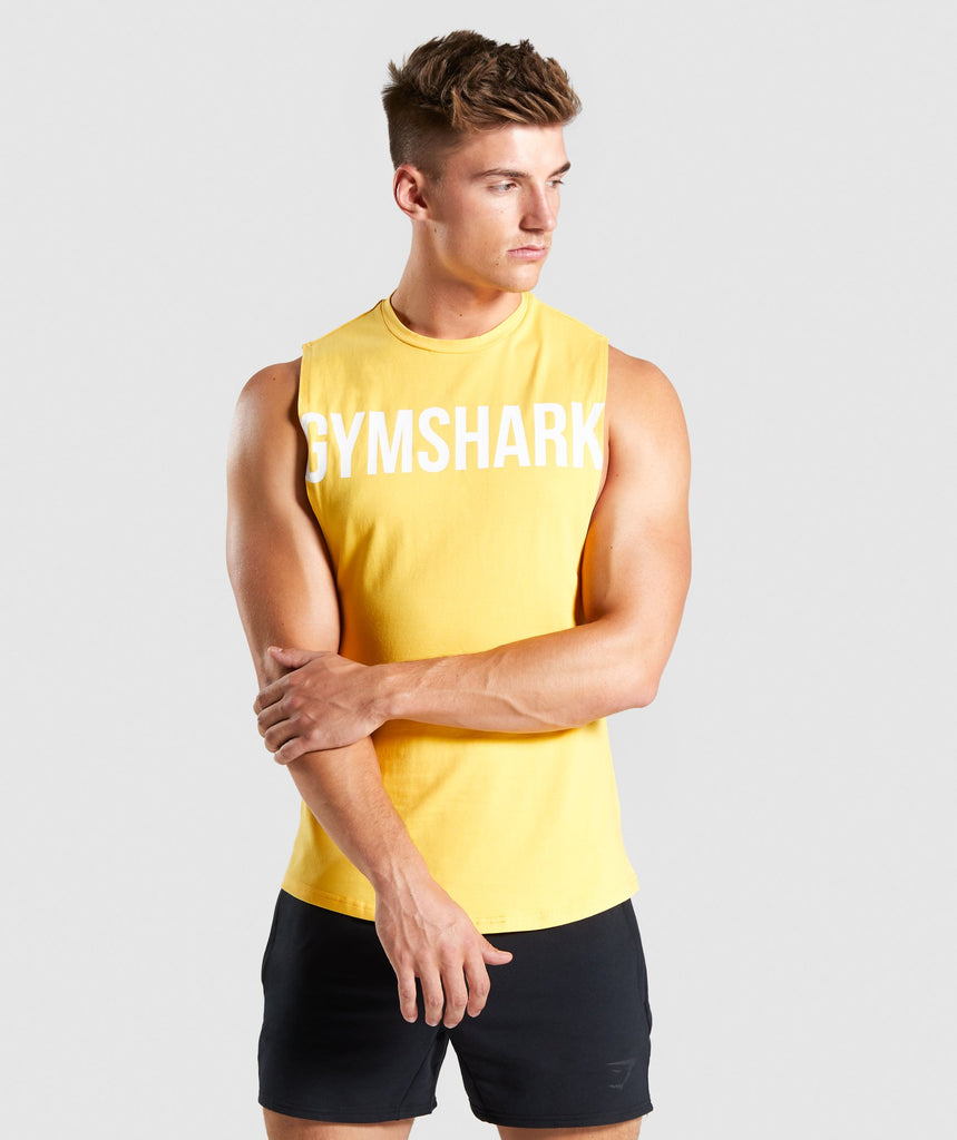 Gymshark Bold Graphic Drop Armhole Tank - Yellow 1