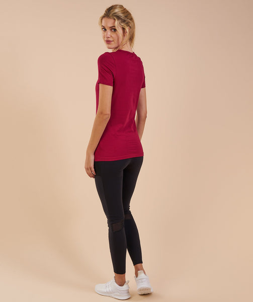 Gymshark Apollo T-Shirt - Beet 1