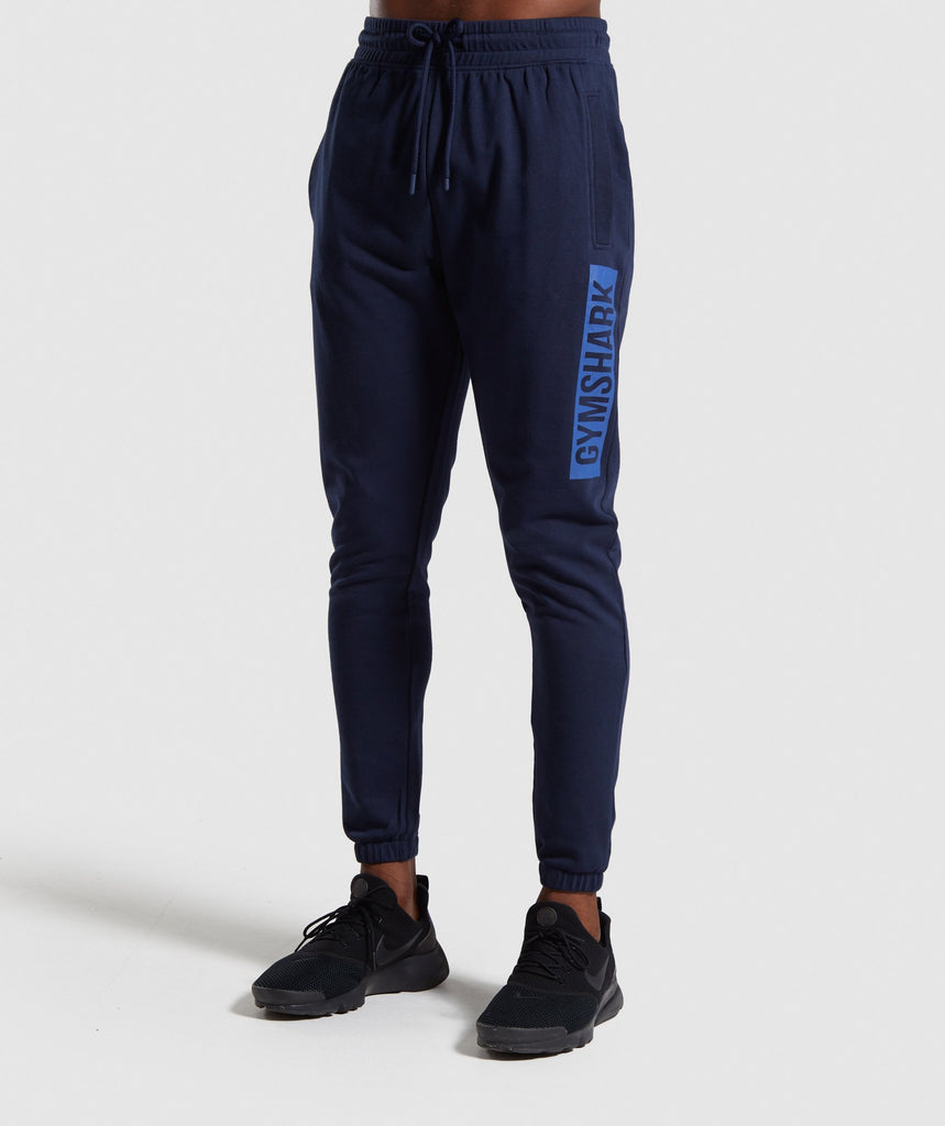 Gymshark Block Joggers - Dark Blue 1