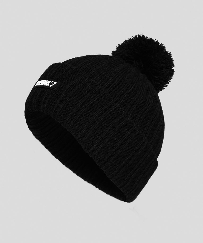 Gymshark Bobble Hat - Black 1