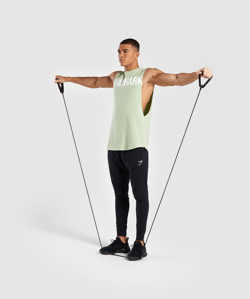 Gymshark Bold Graphic Drop Armhole Tank - Green 3