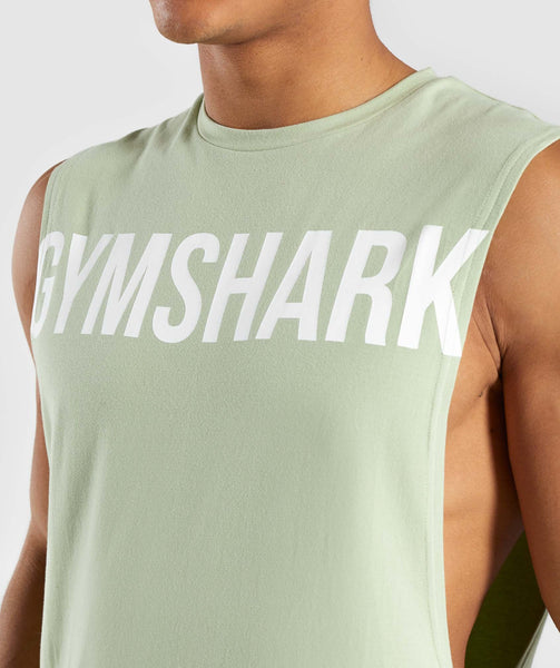 Gymshark Bold Graphic Drop Armhole Tank - Green 4