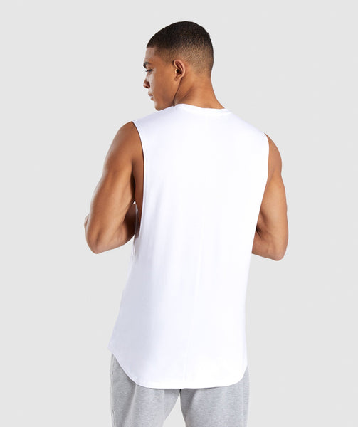 Gymshark Bold Graphic Drop Armhole Tank - White 1