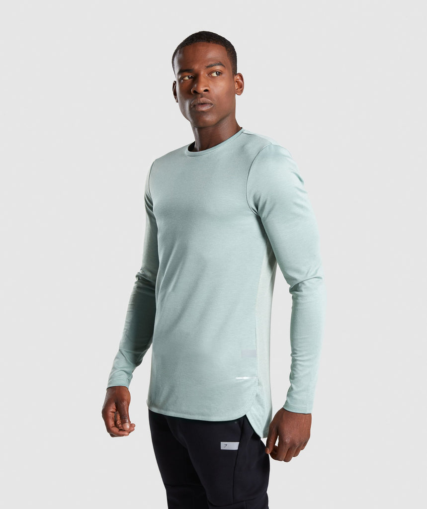 Gymshark Breathe Long Sleeve T-Shirt - Pale Green 1