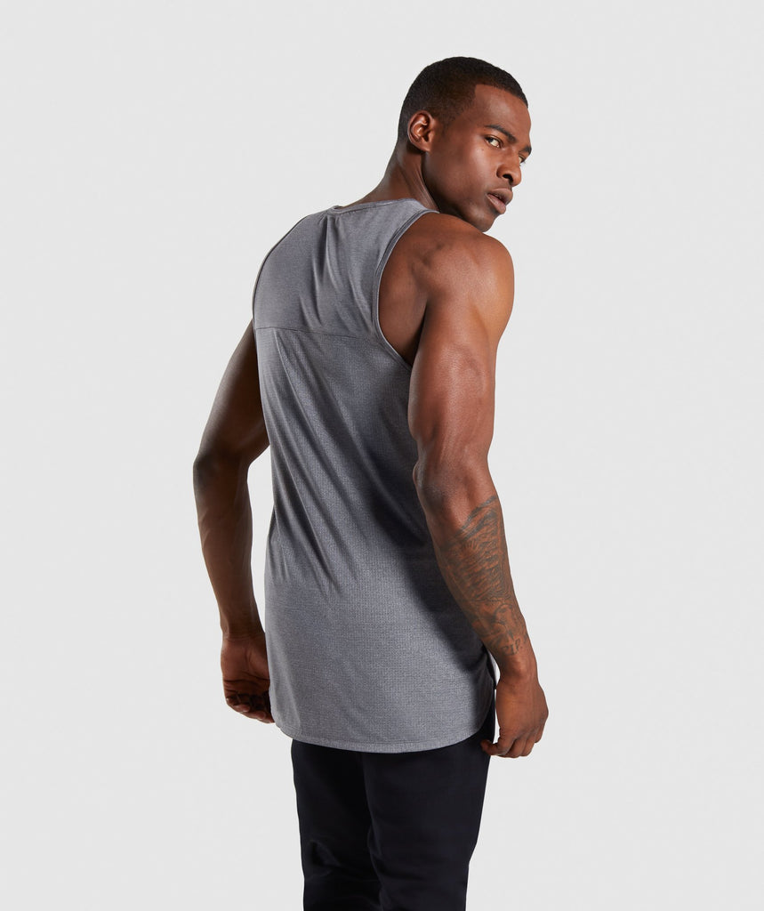 Gymshark Breathe Tank - Smokey Grey Marl 2
