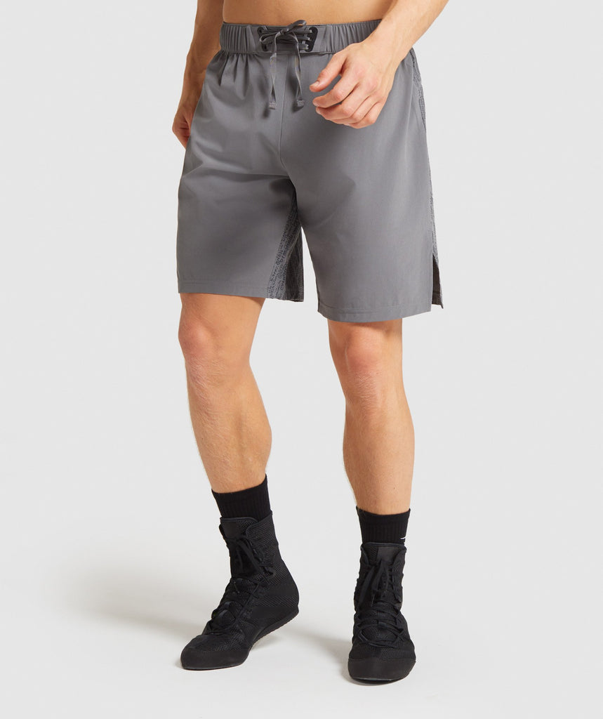 "Gymshark Combat 9"" Shorts - Smokey Grey 1"