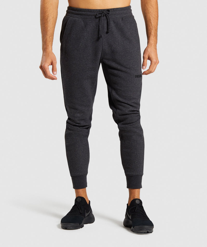 Gymshark Compound Joggers - Black Marl 1