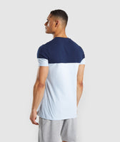 Gymshark Colour Block T-Shirt - Light Blue 8