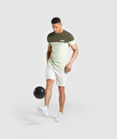 Gymshark Colour Block T-Shirt - Dark Green 9