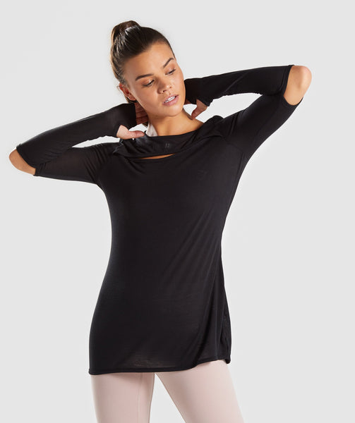 Gymshark Cut Out Long Sleeve - Black 4