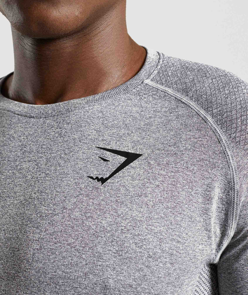 Gymshark Define Seamless Long Sleeve T-Shirt - Smokey Grey Marl 5