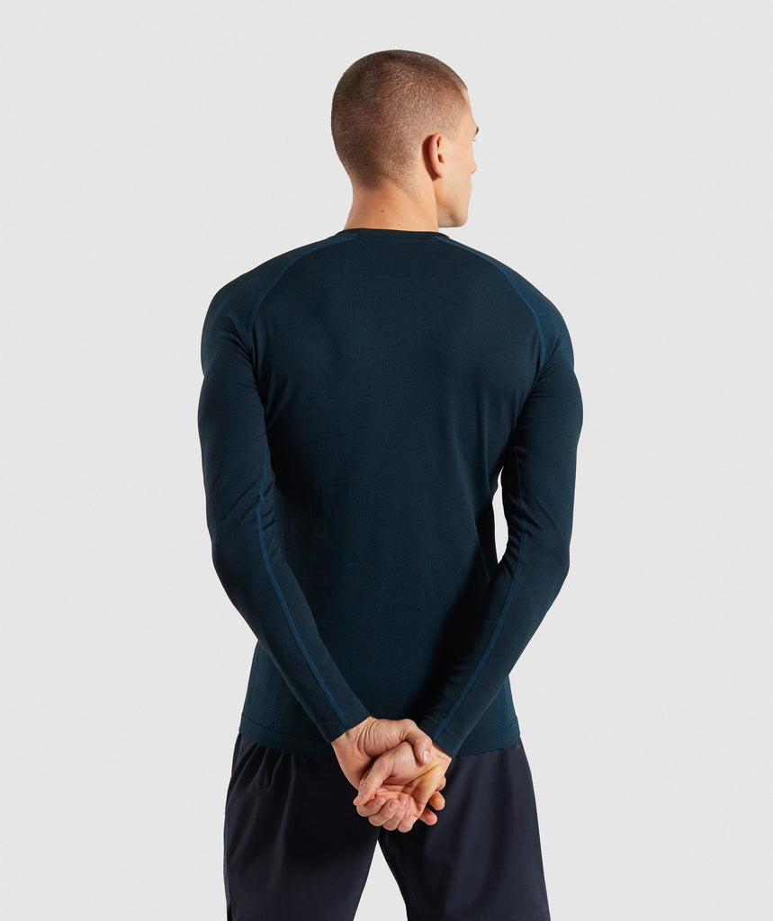 Gymshark Define Seamless Long Sleeve T-Shirt - Blue 2