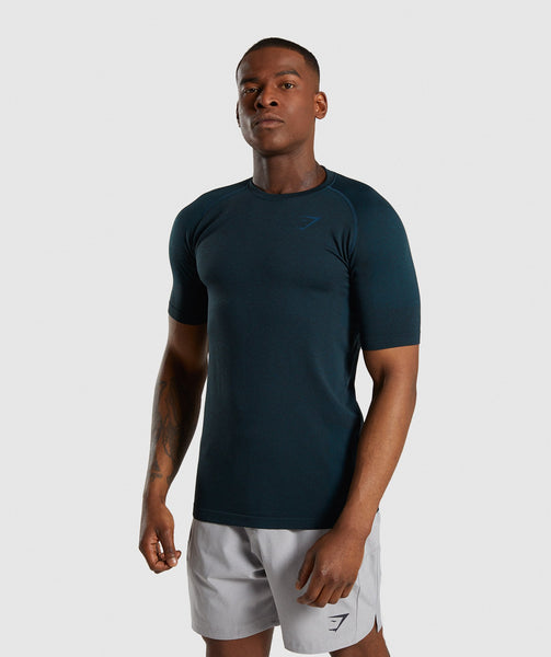 Gymshark Define Seamless T-Shirt - Blue 4