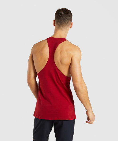 Gymshark Divide Stringer - Full Red 1