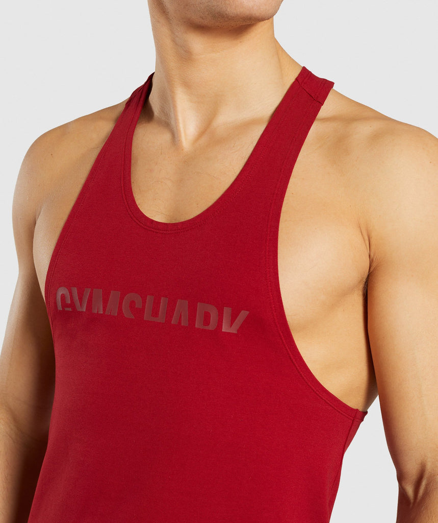 Gymshark Divide Stringer - Full Red 5