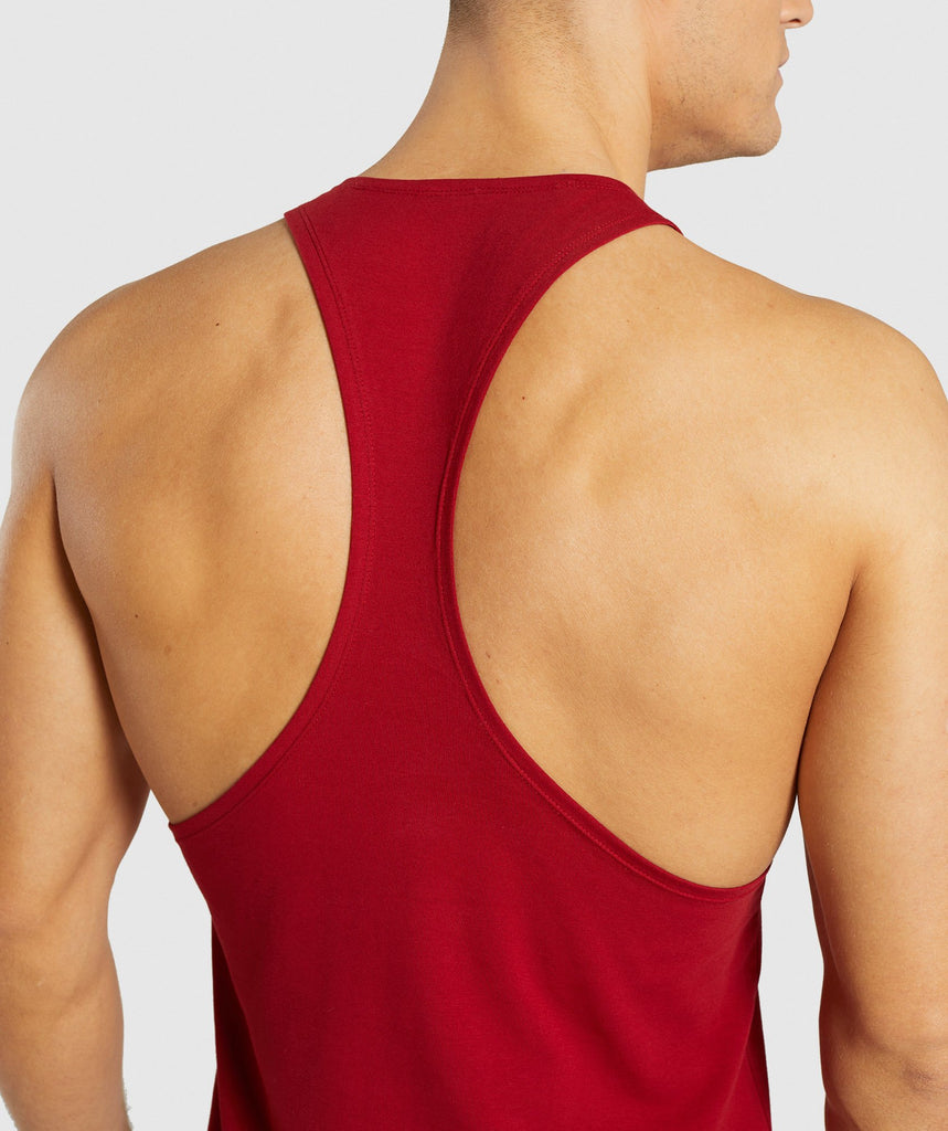 Gymshark Divide Stringer - Full Red 6