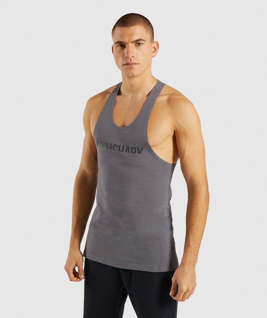 Gymshark Divide Stringer - Smokey Grey 1
