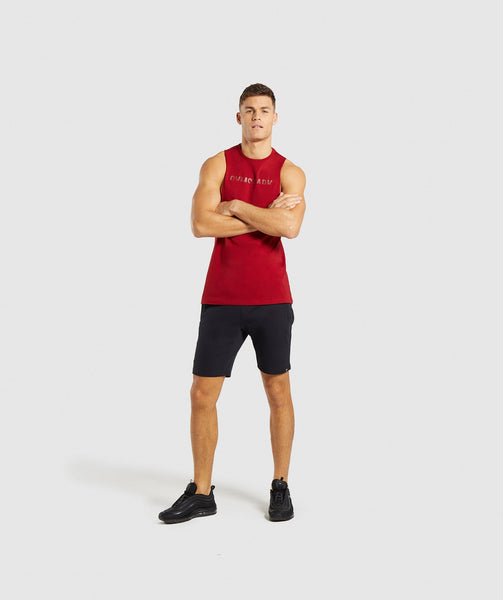 Gymshark Divide Tank - Full Red 3