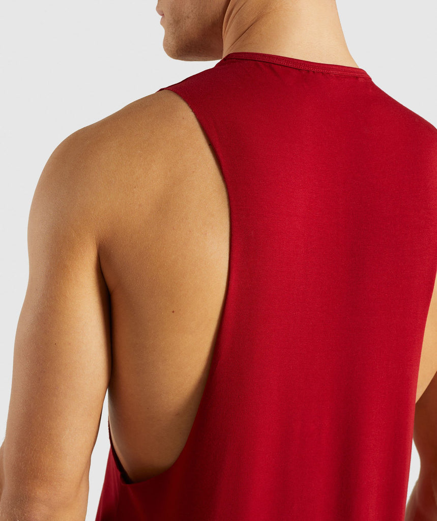 Gymshark Divide Tank - Full Red 6