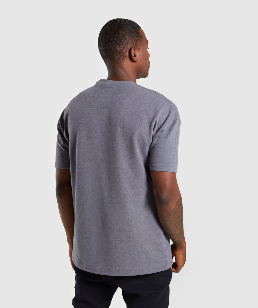 Gymshark Drawcord Sweat T-Shirt - Smokey Grey Marl 2