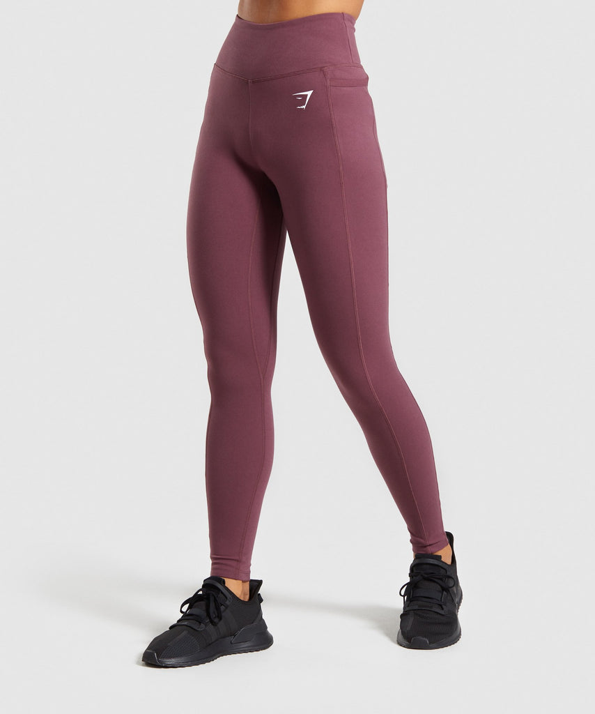 Gymshark Dreamy Leggings - Berry Red 1